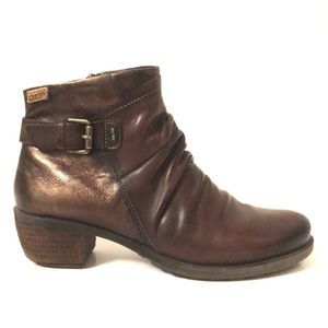 PIKOLINOS ankle boots women metallic shine leather